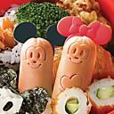 baratos Dados e Fichas-Molde do cortador de salsicha do rato dos desenhos animados com picaretas