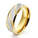 billiga Moderingar-Herr Bandring Groove Rings 1st Guld Blå Rostfritt stål Cirkel Form Geometrisk Unik design Vintage Bröllop Dagligen Smycken Vintage Stil Tvåfärgad Kreativ Häftig