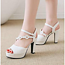 ราคาถูก รองเท้าแตะผู้หญิง-สำหรับผู้หญิง รองเท้าแตะ ส้นหนา PU ความสะดวกสบาย ฤดูใบไม้ผลิ สีดำ / ผ้าขนสัตว์สีธรรมชาติ / สีชมพู / EU39