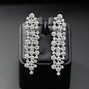 ราคาถูก ตุ้มหู-สำหรับผู้หญิง Drop Earrings สไตล์ ง่าย เกี่ยวกับยุโรป แฟชั่น ต่างหู เครื่องประดับ สีเงิน สำหรับ งานแต่งงาน ทุกวัน 1 คู่