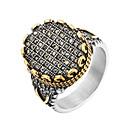 Χαμηλού Κόστους Αντρικά Δαχτυλίδια-Ανδρικά Δακτύλιος Δήλωσης Δακτυλίδι με σφραγίδα 1pc Χρυσό Ανοξείδωτο Ατσάλι Πανκ Μοντέρνο Χιπ-Χοπ Δρόμος Κλαμπ Κοσμήματα Γλυπτό Απίθανο