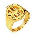 Χαμηλού Κόστους T-shirt Πεζοπορίας-Ανδρικά Δαχτυλίδι Δακτυλίδι με σφραγίδα 1pc Χρυσό Μαύρο Ασημί Ανοξείδωτο Ατσάλι Κλασσικό Ντουμπάι Δώρο Καθημερινά Κοσμήματα Χαραγμένο