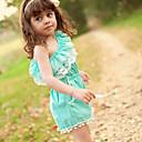 Χαμηλού Κόστους Φορέματα για κορίτσια-Μωρό Κοριτσίστικα Ενεργό / Κομψό στυλ street Καθημερινά / Αργίες Μονόχρωμο Δίχτυ Αμάνικο Κορμάκι Μπλε Απαλό / Νήπιο