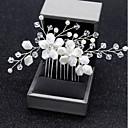povoljno Nakit za kosu-Žene Jednostavan Stil cvijeta Vjenčanje Tekstil Legura Kristal Kosa Combs Party Svečanost - Cvjetni print