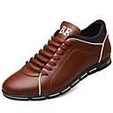 ราคาถูก รองเท้าแตะ & Loafersสำหรับผู้ชาย-สำหรับผู้ชาย รองเท้าสบาย ๆ หนังเทียม ตก รองเท้าผ้าใบ สีน้ำตาล / แดง / ฟ้า / กลางแจ้ง