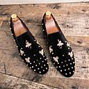 Χαμηλού Κόστους Αντρικές Παντόφλες & Σαγιονάρες-Ανδρικά Τα επίσημα παπούτσια Σουέτ Φθινόπωρο & Χειμώνας Μοκασίνια & Ευκολόφορετα Μαύρο / Κόκκινο / Γάμου / Πάρτι & Βραδινή Έξοδος / Γάμου / Καρφιά / Πάρτι & Βραδινή Έξοδος