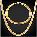Χαμηλού Κόστους Building Blocks-Ανδρικά Vintage Κολιέ Κομψό Λάστιχο κυρίες Μοντέρνα Ντουμπάι Επιχρυσωμένο Σκουλαρίκια Κοσμήματα Χρυσό Για Καθημερινά Βραδινό Πάρτυ