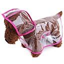 ราคาถูก เสื้อผ้าสำหรับสุนัข-สุนัข แมว สัตว์เลี้ยง ชุดกันฝน Dog Clothes ขาว สีบานเย็น ส้ม เครื่องแต่งกาย Husky สุนัข Labrador Alaskan Malamute หนัง PU สีพื้น ง่าย กิจกรรมกลางแจ้งและกีฬา โปร่งใส XS S M L XL XXL
