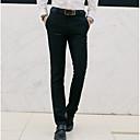 billiga Ukuleler-Herr Grundläggande Plusstorlekar Dagligen Arbete Smal Kostymbyxor / Chinos Byxor - Enfärgad Svart Vin Ljusblå M L XL