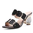halpa Naisten sandaalit-Naisten Sandaalit Heterotypic Heel Synteettinen Comfort / Persu avokkaat Kesä Musta / Kulta / Hopea / EU42