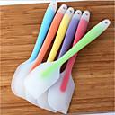 billiga Frukt och grönsakstillbehör-stor spatulas kökskräm smör mjöl kniv kaka silikon skrapa bakning& spatulas bakeware bakskrapverktyg