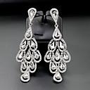 billiga Modeörhängen-Dam Dropp Örhängen Trendig Kreativ Blomma Enkel Europeisk Mode örhängen Smycken Silver Till Bröllop Dagligen en Pair