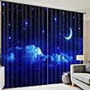 billige 3D gardiner-gardin to paneler for barnrom