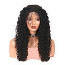 Χαμηλού Κόστους Εξτένσιος μαλλιών με φυσικό χρώμα-Remy Τρίχα Πλήρης Δαντέλα Περούκα στυλ Βραζιλιάνικη Σγουρά Περούκα 180% Πυκνότητα μαλλιών με τα μαλλιά μωρών Φυσική γραμμή των μαλλιών Λευκανθέντες κόμπους Γυναικεία Μακρύ Περούκες από Ανθρώπινη Τρίχα