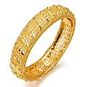 preiswerte Fitness, Laufen & Yoga-Bekleidung-Damen Armreife Manschetten-Armbänder Skulptur damas Ethnisch Italienisch vergoldet Armband Schmuck Gold Für Party Geschenk