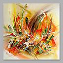 ราคาถูก ภาพวาดวิวทิวทัศน์-ภาพวาดสีน้ำมันแขวนทาสี มือวาด - ลวดลายดอกไม้ / เกี่ยวกับพฤษศาสตร์ ที่ทันสมัย รวมถึงด้านในกรอบ / ผ้าใบยืด