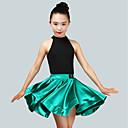 Χαμηλού Κόστους Αξεσουάρ κεφαλής για πάρτι-Λάτιν Χοροί Σύνολα Κοριτσίστικα Επίδοση Spandex Πλισέ Αμάνικο Φυσικό Φούστες / Φορμάκι / Ολόσωμη φόρμα