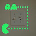 billiga Väggklistermärken-Klistermärken för strömbrytare - Väggstickers Flygplan / Lysande Väggstickers Halloween / Högtid Inomhus / Barnrum