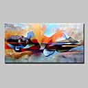 billige Abstrakte malerier-Hang malte oljemaleri Håndmalte - Mennesker Religiøst Moderne Uten Indre Ramme / Valset lerret