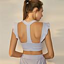 Χαμηλού Κόστους Ρούχα τρεξίματος-Γυναικεία Αθλητικό σουτιέν Τοπ σουτιέν Με Βολάν Spandex Zumba Τρέξιμο Χορού Αναπνέει Anti Transpirație Μπλε / Ελαστικό