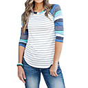 Χαμηλού Κόστους Αυτοκίνητο Διακόσμηση και Προστασία Σώματος-Γυναικεία T-shirt Ριγέ Θαλασσί / πρόστιμο Stripe
