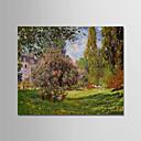 povoljno Slike krajolika-Hang oslikana uljanim bojama Ručno oslikana - Poznat Pejzaž Moderna Uključi Unutarnji okvir / Prošireni platno