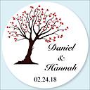 billiga Dekor och nattlampa-Bröllop Stickers, etiketter och etiketter - 48 pcs Cirkelrunda Klistermärken / Kuvertklistermärken Alla årstider