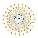 povoljno Rustikalni Zidni satovi-kreativni modni metalni muti zidni sat - moderne suvremene modne naočale& metalni okrugli unutarnji / vanjski