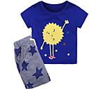 Χαμηλού Κόστους Σετ ρούχων για αγόρια-Νήπιο Αγορίστικα Βασικό Μονόχρωμο Κοντομάνικο Σετ Ρούχων Γκρίζο