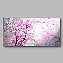 billige Blomster-/botaniske malerier-Hang malte oljemaleri Håndmalte - Abstrakt Moderne Inkluder indre ramme / Stretched Canvas