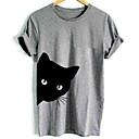 Χαμηλού Κόστους Ημέρα επιστροφής στο σπίτι-Ανδρικά T-shirt Βασικό Ζώο Στρογγυλή Λαιμόκοψη Λευκό / Κοντομάνικο