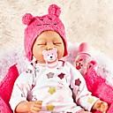Χαμηλού Κόστους Κούκλες σαν αληθινές-FeelWind Κούκλες σαν αληθινές Κορίτσι κορίτσι Μωρά Κορίτσια 22 inch Νεογέννητος όμοιος με ζωντανό Χειροποίητο Μοχάρα χεριών με ρίζες Στυμμένα και σφραγισμένα νύχια Παιδικά Κοριτσίστικα Παιχνίδια Δώρο