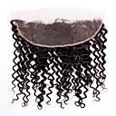 Χαμηλού Κόστους Εξτένσιος μαλλιών με ανταύγιες-Βραζιλιάνικη 4x13 Κλείσιμο Κυματιστό Ελβετική δαντέλα Φυσικά μαλλιά Γυναικεία Η καλύτερη ποιότητα / 100% παρθένα / curling Χριστούγεννα / Χριστουγεννιάτικα δώρα / Γάμου
