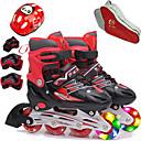baratos Material de Protecção-Para Meninas Patins em Linha / Protecção de Joelhos / Bolsa para Skate Crianças Flash Ajustável, Ventilação ABEC-7 - Roxo, Vermelho, Azul