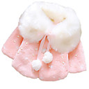 Χαμηλού Κόστους Φορέματα για κορίτσια-Μωρό Κοριτσίστικα Βασικό Καθημερινά Στάμπα Μακρυμάνικο Κανονικό Επένδυση με Πούπουλα & Βαμβάκι Ανθισμένο Ροζ / Νήπιο