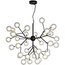 baratos Design Circular-novidade lustre luz ambiente acabamentos pintados metal vidro criativo, novo design 110-120v / 220-240v lâmpada incluída / g4