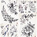 billiga tatuering klistermärken-5 pcs tillfälliga tatueringar Blomserier / Romantisk serie Lena klistermärken / Säkerhet Body art Kropp / arm / skuldra / Dekalstil tillfälliga tatueringar