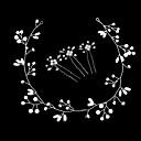 billiga Huvudsmycken till fest-Legering pannband med Pärlimitation 4pcs Bröllop / Speciellt Tillfälle Hårbonad