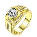 povoljno Modno prstenje-Par je Prsten 1pc Zlato mesing Imitacija dijamanta 24K Gold Plated dame Luksuz Klasik Dnevno Spoj Jewelry Više slojeva Sa stilom dragocjen Cool