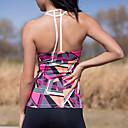 Χαμηλού Κόστους Ρούχα τρεξίματος-Γυναικεία Scoop Neck Double-T Back Γιόγκα Κορυφή Μοντέρνα Zumba Τρέξιμο Fitness Αμάνικη Μπλούζα Αμάνικο Ρούχα Γυμναστικής Ελαφρύ Αναπνέει Γρήγορο Στέγνωμα Anti Transpirație Μικροελαστικό