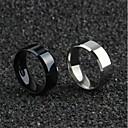 Χαμηλού Κόστους Αντρικά Δαχτυλίδια-Ανδρικά Δαχτυλίδια Ζευγαριού Band Ring Δαχτυλίδι 1pc Χρυσό Μαύρο Ασημί Τιτάνιο Ατσάλι Κυκλικό Απλός Ρομαντικό Κορεάτικα Καθημερινά Φεστιβάλ Κοσμήματα Κοίλο Ευλογημένος Πίστη