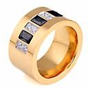 billiga Hundkläder-Par Parringar Syntetisk Diamant 1st Guld Rostfritt stål Rund Geometrisk damer Stilig Artistisk Födelsedag Gåva Smycken Trendig Kreativ Häftig