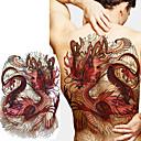 billiga tatuering klistermärken-1 pcs tillfälliga tatueringar Totemserier / Djurserier Lena klistermärken / Säkerhet Body art tillbaka / Dekalstil tillfälliga tatueringar