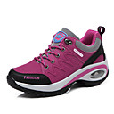 זול נעלי ספורט לנשים-בגדי ריקוד נשים נעלי נוחות סינטטיים סתיו חורף יום יומי נעלי אתלטיקה הליכה עקב טריז בוהן עגולה ניטים סגול / פוקסיה / אפור כהה