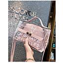 ราคาถูก กระเป๋า Totes-สำหรับผู้หญิง แพทเทิร์นหรือลายพิมพ์ พีวีซี กระเป๋าถือยอดนิยม สีดำ / สีน้ำตาล / สีแดงชมพู