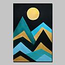 ราคาถูก ภาพวาดแอบสแตรก-ภาพวาดสีน้ำมันแขวนทาสี มือวาด - แอ็ปสแต็ก ภูมิประเทศ ที่ทันสมัย รวมถึงด้านในกรอบ / ผ้าใบยืด