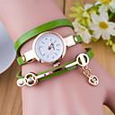 billiga Modearmband-Dam damer Armbandsklocka wrap watch Quartz Wrap Läder Svart / Vit / Blå Vardaglig klocka Ramtyp Mode - Grön Blå Mörkgrön
