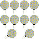 billiga LED-bi-pinlampor-10st 2w g4 ledd bi-pin lampa rund 15 smd 5730 dc / ac 12 - 24v varm / kall vit