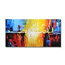 billige Abstrakte malerier-Hang malte oljemaleri Håndmalte - Abstrakt Moderne Inkluder indre ramme / Stretched Canvas