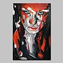 Χαμηλού Κόστους Ελαιογραφίες-Hang-ζωγραφισμένα ελαιογραφία Ζωγραφισμένα στο χέρι - Αφηρημένο Άνθρωποι Μοντέρνα Περιλαμβάνει εσωτερικό πλαίσιο / Επενδυμένο καμβά